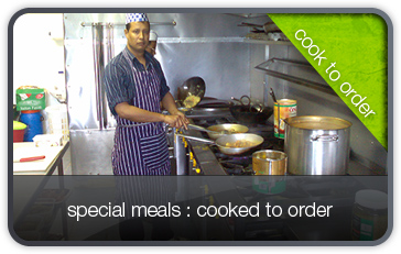Meals cooked to order